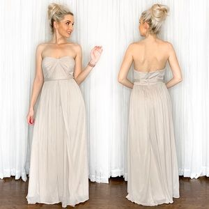 Biscotti David's Bridal Long Bridesmaid Dress